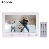 Wholesale digital video resolution resale online - Andoer Inch Digital Photo Frame LED Screen Digital Album High Resolution Dual Front stereo speakerswith Remote Control