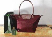 sacs à provisions pliants en nylon achat en gros de-2019 nouveau style Mode Femmes Sacs sac à main en nylon plié sac Français shopping sac taille S M L XL