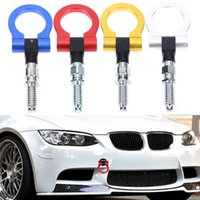 Wholesale car towing hooks resale online - Car Front Bumper Screw on Tow Hook Aluminum mm Tow Hook Front Rear Racing Style for European Cars Universal New