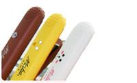 Wholesale portable mini straightening iron online - Mini Ceramic Electric Hair Straightener Curling Irons Portable Travel Straightening Irons Flat Irons Professional Hair Styling Tool