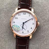 relógio de bolso chave de bronze venda por atacado-40mm de negócios fino casual mens relógio mão manual de enrolamento 1815 235.032 Classic Regulator pulseira de couro genuíno A.88275 233 fabricantes relógio de pulso