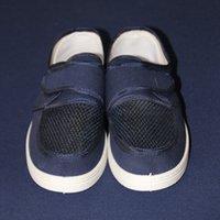 Wholesale canvas cleaner for sale - Group buy Anti static Shoes PVC Blue Canvas Velcro Sandwich Net Dust Free Clean Shoes