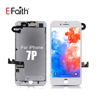 Wholesale front camera for iphone resale online - No Dead Pixel lcd Full set For iPhone Plus LCD Screen Display Touch Screen Digitizer Front Camera Plate