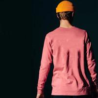 motif t-shirt moderne achat en gros de-Hommes 19SS T-shirts Automne Spring Mountain imprimé Fashion Tops manches longues