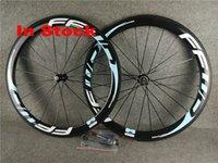 mavi karbonlu yol bisiklet tekerlekleri toptan satış-Stokta açık mavi FFWD karbon fiber tekerlek karbon fiber tekerlek 50mm yol kattığı yol bisikleti jantlar