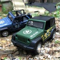 carro direto venda por atacado-1: 36 Modelo de Carros Abertos Jeep Wrangler Meninos Cross Country Veículo Brinquedos Camuflagem Blue Boy Carro Direto Deal 8 8hp N1