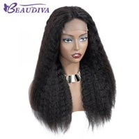 fechamento de renda de 12 polegadas venda por atacado-Kinky Hetero Lace Wig Encerramento 4 * 4 perucas polegadas rendas peruana cabelo humano perucas Remy Lace Encerramento perucas de cabelo humano para mulheres