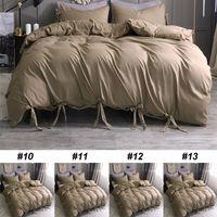 ingrosso set di lenzuola di lusso marrone-3pcs set di biancheria da letto regalo marrone nuovo letto copripiumino di lusso arredamento per la casa Quilt Cover Home Hotel
