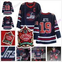 camisetas de hockey sobre patrimonio al por mayor-Custom 2019 Winnipeg Jets Heritage Classic Jersey Patrik Laine Dustin Byfuglien Mark Scheifele Blake Wheeler Kyle Connor Bryan Little