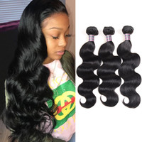 Wholesale 24 piece hair weave online - 8 inch Brazilian Body Wave Human Hair Bundles Mink Peruvian Straight Hair Extensions Unprocessed Virgin Hair Weave Bundles