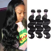 Wholesale 18 human hair weave online - 8 inch Brazilian Body Wave Human Hair Bundles Mink Peruvian Straight Hair Extensions Unprocessed Virgin Hair Weave Bundles
