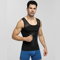 Wholesale boy undershirt tank for sale - Group buy Men s Mesh Body Shapers Slimming Underwear Fitness Tank Tops Boys High Elastic Tight Fitting Shaper Undershirts Vests