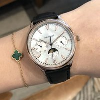 Wholesale mens leather watches online - luxury watch mens watches pins moon phase fashion man wristwatches sapphire quartz watch famous brand watches gift orologio Montre de luxe