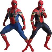 zentai adam toptan satış-Örümcek Adam Kostüm Cosplay Zentai Suit Kostüm