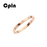 ingrosso braccialetti del braccialetto dell'oro del braccialetto-Cpln studenti nuova moda creativa oro rosa acciaio al titanio braccialetto d'amore semplice tendenza braccialetti selvatici per le donne