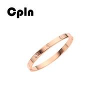 pulseiras de pulseira de ouro de tendência venda por atacado-Estudantes Cpln nova moda criativa rosa pulseira de amor de aço de titânio de ouro simples pulseiras selvagens para as mulheres