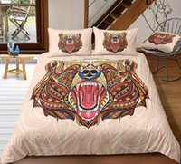 Wholesale bear bedding for sale - Group buy Bear Print Bedding Set King Tribal Style Retro Duvet Cover Queen D Comfortable Twin Full Single Double Bed Cover with Pillowcase