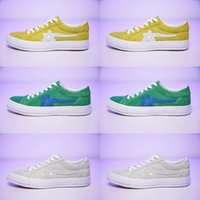 a8299105af  With Box  TTC The Creator x One Star Golf Ox Le Fleur Wang Green Yellow  Beige Sunflower Casual Fashion Running Skate Shoes