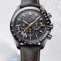 alfiler oscuro al por mayor-Nuevo estilo Reloj de lujo para hombres Súper Súper Serie The Dark Hollow Out Dial Maquinaria automática Color Line Decoración Reloj de pulsera Relojes de pulsera