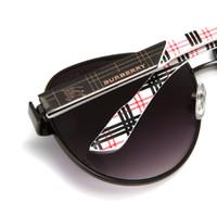 caixas de presente para copos venda por atacado-Marca new sunglasses marca retro cheque warhorse metal full frame das mulheres e dos homens óculos de sol verão óculos uv caixa de presente requintado