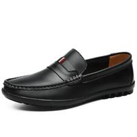 Wholesale casual shoes suit resale online - top quality Mens Summer Genuine Leather Suede Breathable Moccasins casual Driving Shoes Loafer Shoe men s suit shoe Dress Shoes