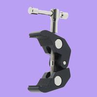 auslegerstativ großhandel-Magic Arm Crab Claw Clamp Zangen Clip Studio Flash Halterung für Boom Light Stand Boom Arm Kamera Stativ Einbeinstativ