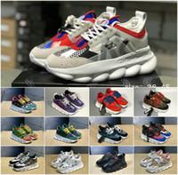 kadınlar için beyaz kauçuk ayakkabılar toptan satış-Yüksek kalite 2019 Zincir Reaksiyon Lüks Tasarımcı Ayakkabı Erkek Kadın Sneakers Kar Leopar Mavi Örgü Kauçuk Deri moda Siyah Beyaz Tn ayakkabı
