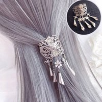 Wholesale tassel headbands for women for sale - Group buy Chinese Shiny Gold Metal flower Tassel Chain Hair Combs For Women Flower Brides Headband Clip Wedding Hair Accessories Jewelry