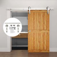 ingrosso hardware pesante porta fienile-Ferramenta per porte scorrevoli in legno Mordern in acciaio inossidabile resistente da 4,9FT / 6FT / 6,6FT