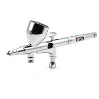 luftsprühkunst großhandel-0,2mm Dual Action Airbrush Stift Airbrush Spritzpistole Sprayer Stift Make-Up-Tool Für Nail art / Body Tattoos Spray / Kuchen Spielzeug Modelle