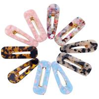 fashion alligator clips großhandel-10 Stücke Acryl Harz Haarspangen Mode Geometrische Alligator Haarspangen Für Frauen Und Mädchen Zubehör
