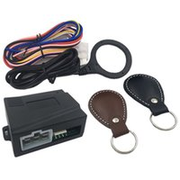 rfid kilidi sistemi toptan satış-Akıllı Araba Motor Push Start Durdurma Düğmesi Rfid Kilidi Kontak Anahtarsız giriş Sistemi Otomatik Çalıştırma Durdurma Immobilizer Starline