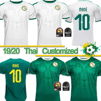 camiseta de fútbol de alta calidad tailandesa al por mayor-Tailandés 19 20 Copa de África Senegal Camiseta de fútbol de calidad superior de Tailandia Copa del mundo 2018 Senegal nacional MANE equipo de fútbol camiseta de fútbol Camiseta de fútbol