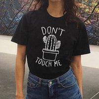 kadınlar beyaz tişörtler toptan satış-Tasarımcı T Gömlek kadın Womens Tasarımcı Giyim Cactus Tişörtlü Kadınlar Casual Yaz Tshirts Femme Tees Vintage Siyah Beyaz T Shirt