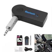 usb 3.5mm adaptör toptan satış-Bluetooth Araç Adaptörü Alıcısı 3.5mm Aux Stereo Kablosuz USB Mini Akıllı Telefon MP3 Için Bluetooth Ses Müzik Alıcısı Ile Perakende