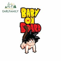 Wholesale baby board stickers for cars resale online - 13cm x cm Car Stickers Baby on Board FOR Dragonball Goku Decals Car Styling Accessories