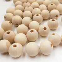 holzperlen rund groihandel-Großhandel Natürliche Farbe Holz Perlen Runde Spacer Holzperlen Umweltfreundliche 4-30mm Holzkugeln Für Charme Bracelete DIY Handwerk Liefert