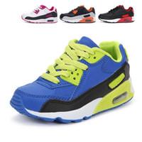 zapatos de baloncesto para niños a la venta al por mayor-zapatos de la nueva venta caliente de la marca de los niños zapatos corrientes del amortiguador de aire del deporte Max90 amortiguación de la chica inferior suave Niños de zapatillas de baloncesto del muchacho