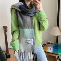 bayanlar bahar şalları toptan satış-En tasarımcı ipek susturucu Wuman eşarp markası eşarp bayanlar yumuşak süper uzun lüks eşarp şal bahar moda baskılı eşarplar HEDİYE