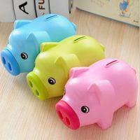 cajas de ahorro al por mayor-15 UNIDS Cartoon Pig PIGGY Bank Coin Money Plastic Savings Caja de Ahorro de Dinero Caja de Dibujos Animados Piggy Bank Piggy Bank regalo de los amantes de los niños regalo