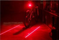 parte traseira da lanterna traseira do laser da bicicleta venda por atacado-Bicicleta Luzes de Ciclismo À Prova D 'Água 5 LED 2 Lasers 3 Modos de Bicicleta Lanterna Traseira Luz de Aviso de Segurança Bicicleta Rear Bycicle Luz Cauda Lâmpada 001