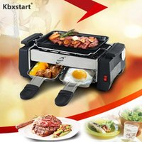 Wholesale bbq ovens resale online - 1000W Smokeless BBQ Griddles Barbecue Rotating Churrasqueira Eletrica For Home Couples Self Help Raclette Grill Electric Oven