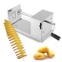 ferramenta de cozinha em espiral venda por atacado-Spiral Potato Twister Tornado Cortador Fatiador De Batata Frita Vegetal Cortador De Cozinha Cozinhar Ferramentas Feitos À Mão Slicer De Batata Torcida