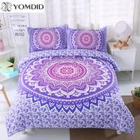 Wholesale blue pattern duvet cover for sale - Group buy Mandala Flower Bedding Set Twin Full Queen King Size Floral Pattern Duvet Cover pillowcase set Bohemian Bedclothes Bed