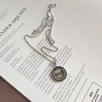 beliebte schmuckdesigner großhandel-Neue Ankunft beliebte 925 Silber Frankreich Münze Halskette Schmuck Luxus Designer Frauen Halskette für Frauen und Männer für Geschenk und tägliches Tragen