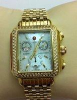 ingrosso guarda il diamante personalizzato-MICHELE DECO CHRONO GOLD GOLD CUSTOM DIAMOND OROLOGIO INCORPORATO MW06P00A9046