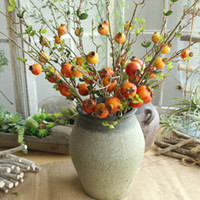 Wholesale pomegranate decoration fruit for sale - Group buy Artificial Rose Fruit Pomegranate Berries Bouquet Floral Garden Home Decor Christmas home wedding new Year decoration Gifts C