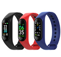 kinder fitbit groihandel-M4 Smart-Armband Fitness Tracker PK Mi Band 4 Fitbit Style Sport Smart Watch 0,96 Zoll IP67 wasserdichter Herzfrequenz Blutdruck