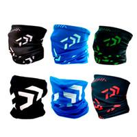 güneş koruma maskeleri toptan satış-Daiwa Rüzgar Geçirmez Balıkçılık Eşarp Tek Katmanlı Körüğü Boyun Açık Güneş Koruma Bisiklet Bandana Dikişsiz Sihirli Yüz Maskesi