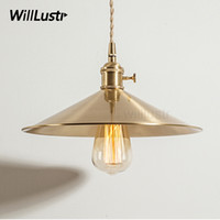 Wholesale antique brass bedroom lamps for sale - Group buy handmade hammered look brass pendant lamp northern Europe Japan hotel restaurant bar cafe bedroom suspension light antique copper fixture